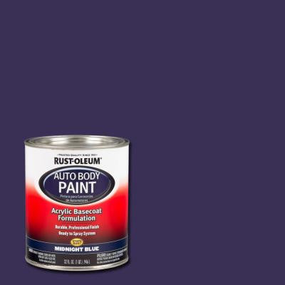 1-qt. Midnight Blue Auto Body Paint (Case of 2)