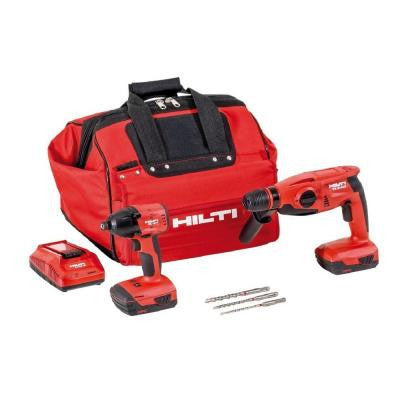 18-Volt Lithium-Ion Cordless Rotary Hammer Drill/Impact Driver Compact Combo Kit (2-Tool)