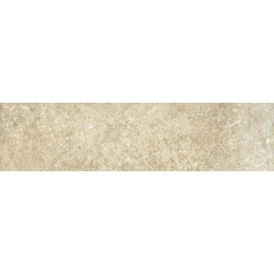 Athens Grigio 3 in. x 12 in. Glazed Porcelain Bullnose Floor and Wall Tile