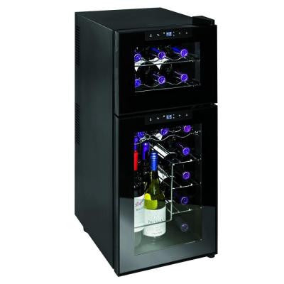 21-Bottle Silent Dual Zone Touchscreen Wine Cooler