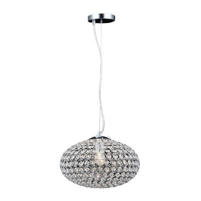 1-Light Chrome Crystal Small Chandelier