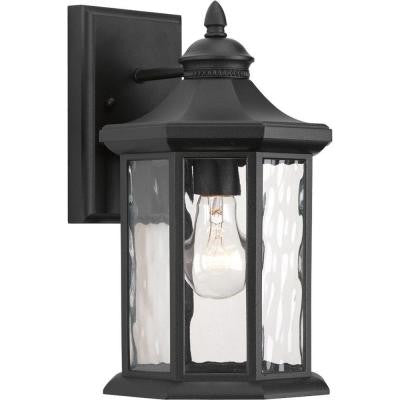 Edition Collection 1-Light Black Outdoor Wall Lantern
