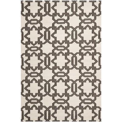 Dhurries Ivory/Grey 8 ft. x 10 ft. Area Rug