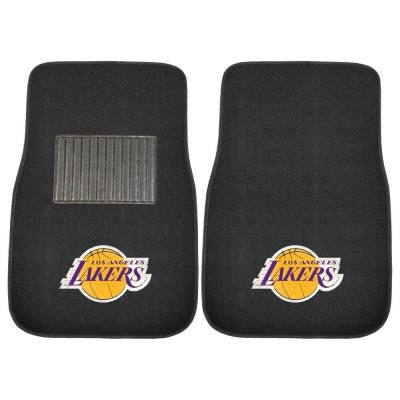 NBA Los Angeles Lakers 2-Piece 17 in. x 25.5 in. Carpet Embroidered Car Mat