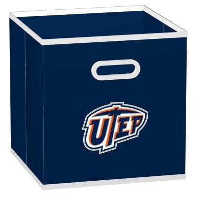 College STOREITS University of El Paso 10-1/2 in. x 10-1/2 in. x 11 in. Navy Fabric Storage Drawer