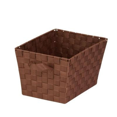 32-Qt. Large Woven Strap Tote Brown