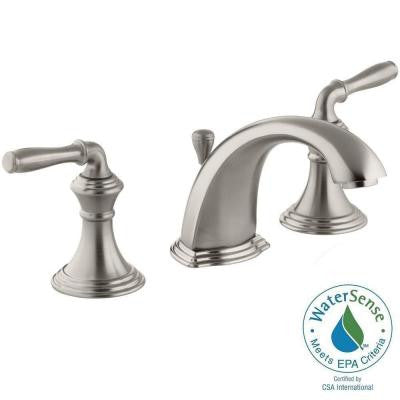 Devonshire 8 in. Widespread 2-Handle Low-Arc Bathroom Faucet in Vibrant Brushed Nickel