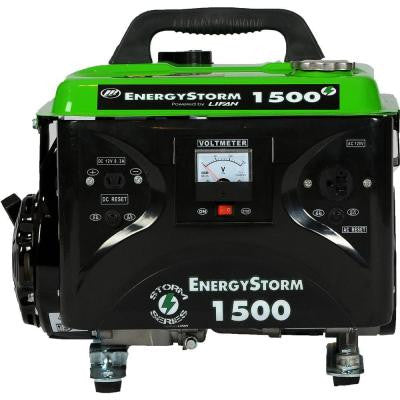 Energy Storm 1,500-Watt 97 cc Gasoline Powered Portable Generator
