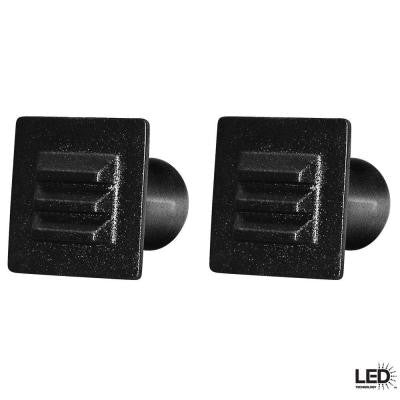 12-Volt Low-Voltage Black LED Square Deck Light (2-Pack)