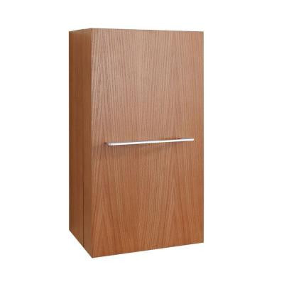 Carvell 15-4/6 in. W x 11-6/8 in. D x 31-1/2 in. H Bathroom Wall Cabinet in Chestnut
