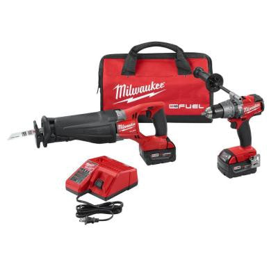 M18 FUEL 18-Volt Lithium-Ion Cordless Hammer Drill/SAWZALL Reciprocating Saw XC Combo Kit