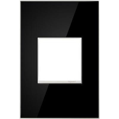 1-Gang 2 Module Wall Plate - Mirror Black
