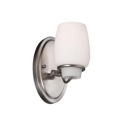 Colby 1-Light Brushed Steel Vanity Light