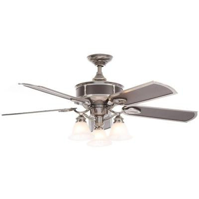 Preston 52 in. Vintage Pewter Ceiling Fan