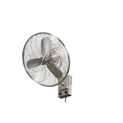 Bentley III 22 in. Oscillating Brushed Nickel Wall Fan