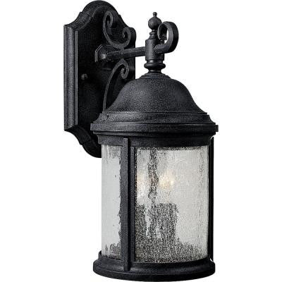 Ashmore Collection 2-Light Textured Black Wall Lantern