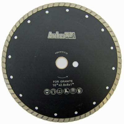 10 in. Wide Turbo Diamond Blade for Stone and Masonry Cutting