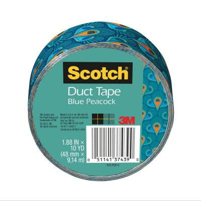 Scotch 1.88 in. x 10 yds. Blue Peacock Duct Tape