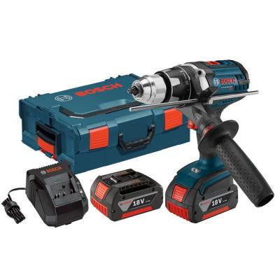 18-Volt Lithium-Ion 1/2 in. Brute Tough Cordless Drill/Driver Kit with (2) 4.0Ah Batteries and L-Boxx 2