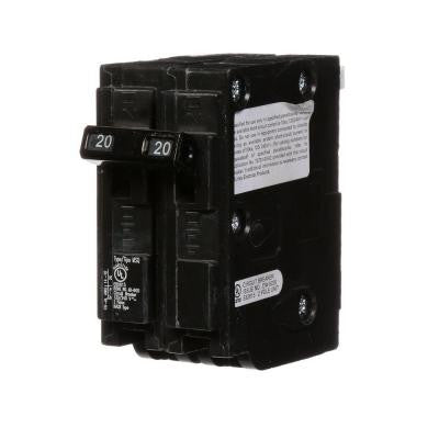 20 Amp Double-Pole Type MSQ QO Replacement Circuit Breaker