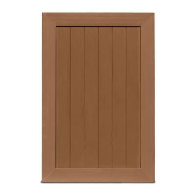 Pro Series 4 ft. x 6 ft. Brown Vinyl Anaheim Privacy Fence Gate