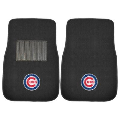 MLB Chicago Cubs 2-Piece 17 in. x 25.5 in. Carpet Embroidered Car Mat