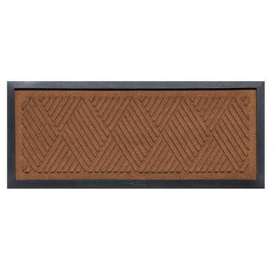 Dark Brown 15 in. x 36 in. Diamonds Boot Tray