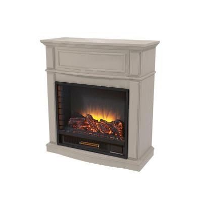 Niya 32 in. IR Electric Fireplace in Bleached Linen