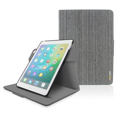 case Orb 360 Folio System Case Cover for Apple iPad Air 2 (2014) - Canvas Gray