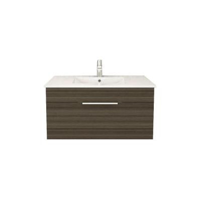 Textures Collection 36 in. W Vanity in Spring Blossom with Acrylic Sink in White