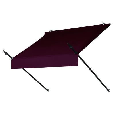 4 ft. Designer Awning Replacement Cover (25 in. Projection) in Burgundy