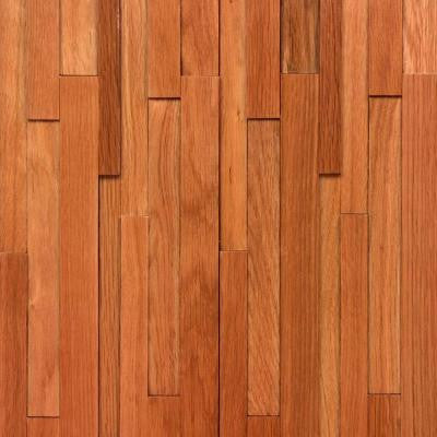 Deco Strips Gunstock 3/8 in. x 7-3/4 in. Wide x 47-1/4 in. Length Engineered Hardwood Wall Strips (10.334 sq. ft. /case)