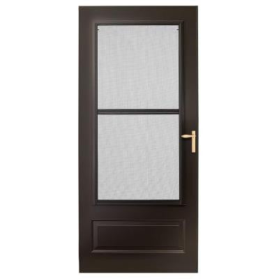 32 in. x 80 in. 300 Series Bronze Triple-Track Storm Door