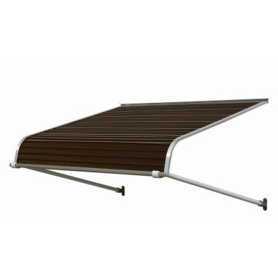 6 ft. 2500 Series Aluminum Door Canopy (16 in. H x 42 in. D) in Brown
