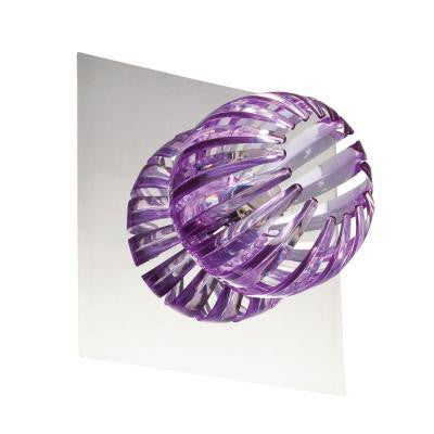 Cosmo Collection 1-Light Chrome and Purple Wall Sconce