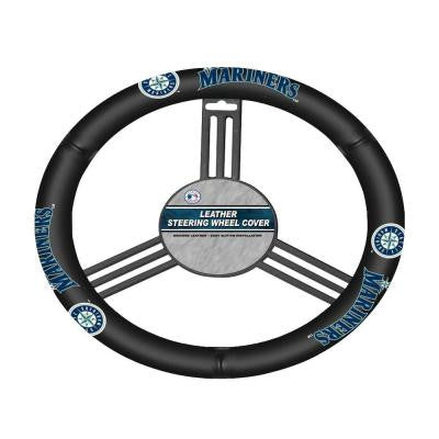 Seattle Mariners Leather Steering Wheel Cover