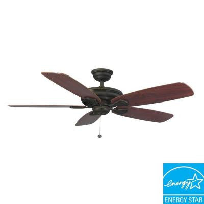 Heirloom 52 in. Oil Rubbed Bronze Outdoor Ceiling Fan