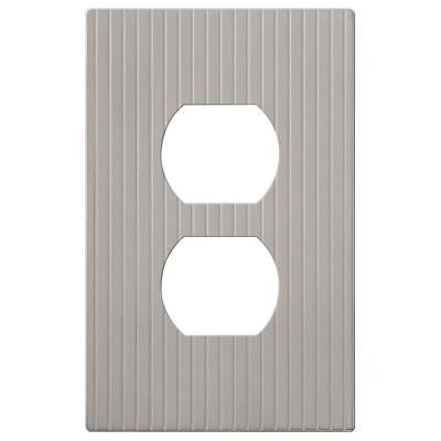 Mies 1 Duplex Screwless Wall Plate - Nickel