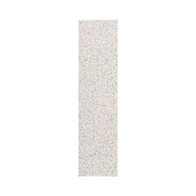 Colour Scheme Arctic White Speckled 1 in. x 6 in. Porcelain Cove Base Corner Trim Floor and Wall Tile