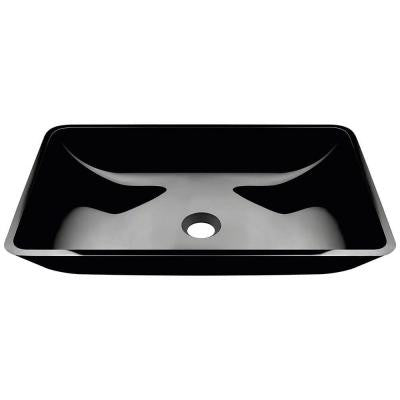 Glass Vessel Sink in Black