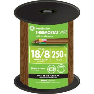 18-8 Thermostat Wire - Brown (By-the-Foot)