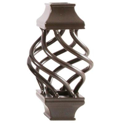 3/4 in. Bronze Aluminum Basket Square Baluster Collar