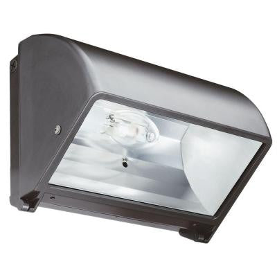Metal Halide Small Bronze Cut-Off Wall Pack with Glass Lens with Multi-Tap Ballast