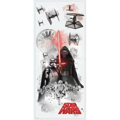 5 in. W x 19 in. H Star Wars EP VII Villians Burst 3-Piece Peel and Stick Giant Wall Decal