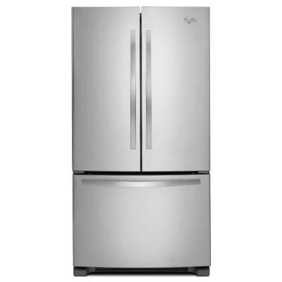 33 in. W 22.1 cu. ft. French Door Refrigerator in Monochromatic Stainless Steel
