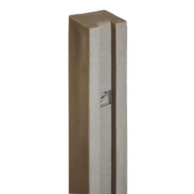5 in. x 5 in. x 8-1/2 ft. EcoStone Brown Composite Fence Gate Post
