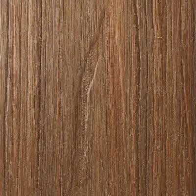 UltraShield Naturale Voyager Series 0.9 in. x 5.5 in. x 0.5 ft. Hollow Composite Decking Board Sample in Peruvian Teak