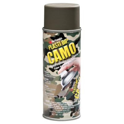 11 oz. Green Camo Rubber Coating Spray (6-Pack)