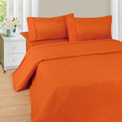 1200 Series Rust 75 gsm Twin-XL Microfiber Sheet Set (3-Piece)