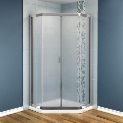 Intuition 36 in. x 36 in. x 73 in. Shower Stall in White